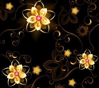 Golden Flowers - Obrázkek zdarma pro 1024x1024