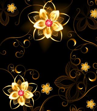 Golden Flowers - Obrázkek zdarma pro 240x400