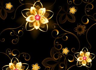 Golden Flowers - Obrázkek zdarma pro 960x800