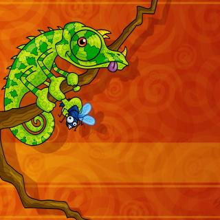 Abstract Iguana - Obrázkek zdarma pro 208x208