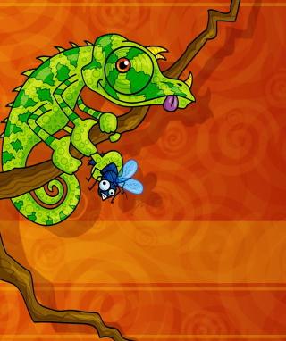 Abstract Iguana - Obrázkek zdarma pro 320x480