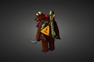 Angry Russian Bear With Balalaika Picture for Android, iPhone and iPad