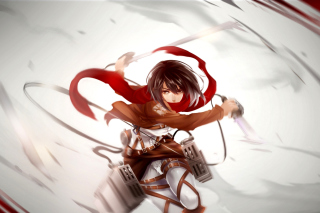 Attack on Titan, Mikasa Ackerman Background for Android, iPhone and iPad