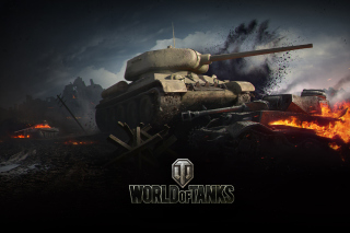 World of tanks T34 85 Background for Android, iPhone and iPad
