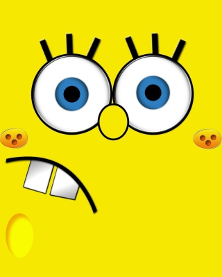 Yellow Spongebob - Obrázkek zdarma pro Nokia X7