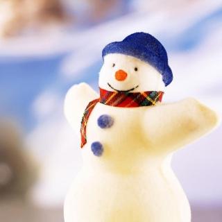 Happy Snowman - Obrázkek zdarma pro 208x208