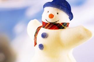 Happy Snowman - Obrázkek zdarma pro 1366x768