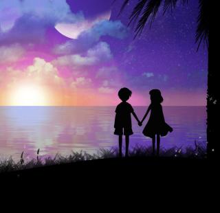 Holding Hands At Sunset - Obrázkek zdarma pro iPad
