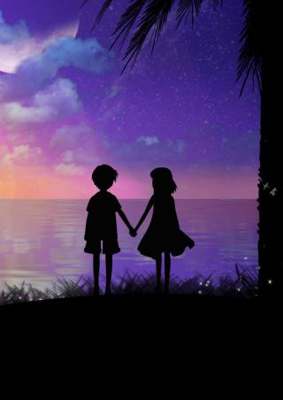 Holding Hands At Sunset - Obrázkek zdarma pro Nokia X6