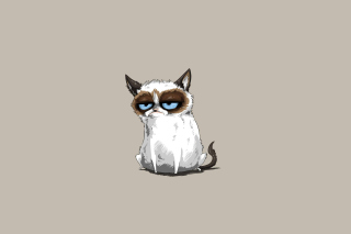 Grumpy Cat Drawing Background for Android, iPhone and iPad