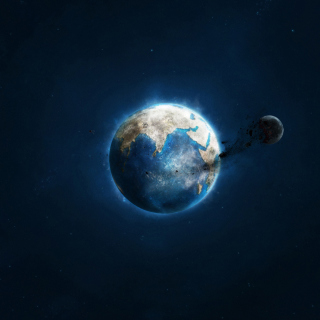 Planet and Asteroid - Obrázkek zdarma pro 2048x2048