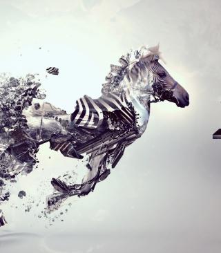Digital Zebra - Obrázkek zdarma pro Nokia Asha 303