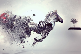 Digital Zebra - Obrázkek zdarma pro 1080x960