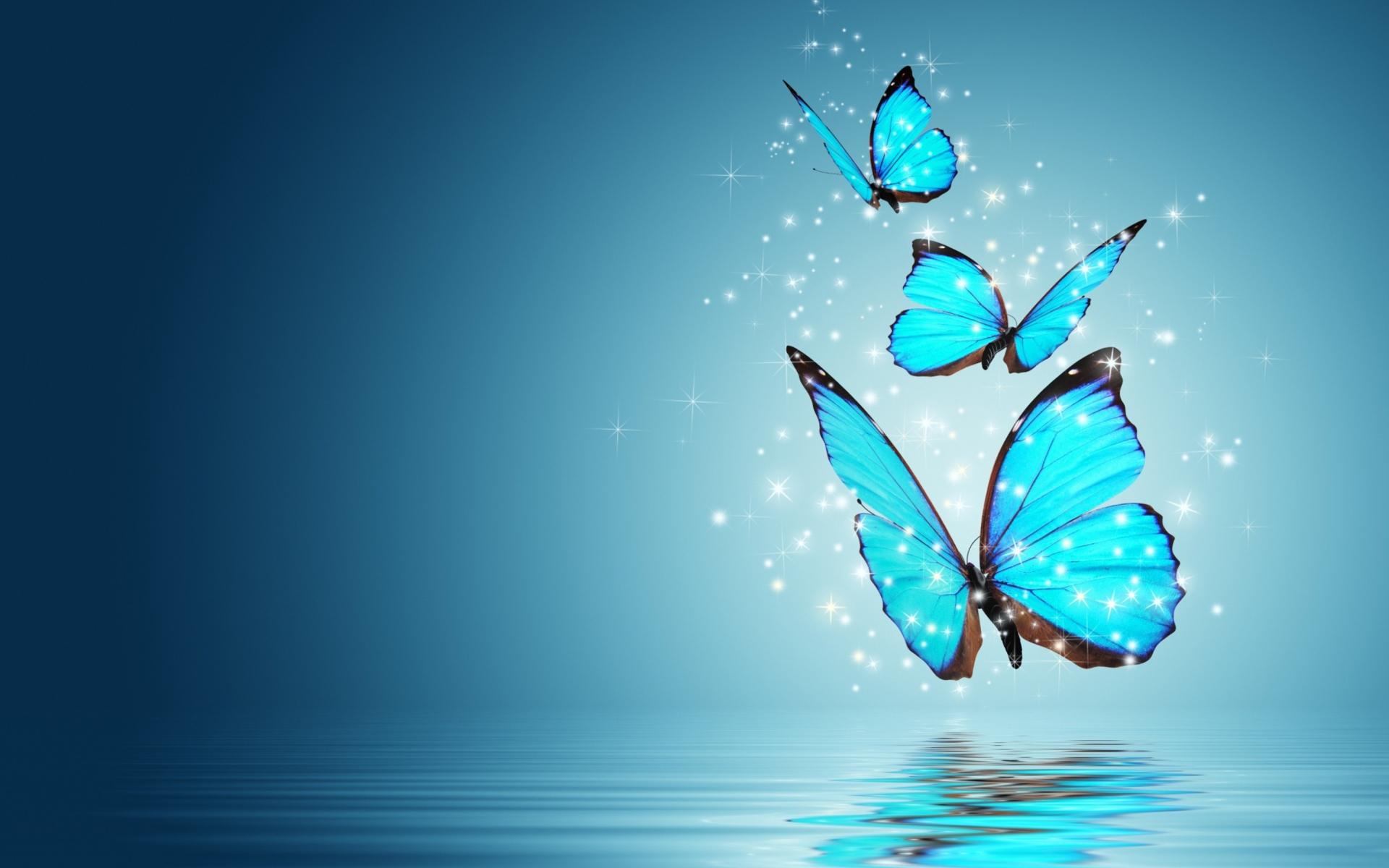 Blue Butterflies Papel De Parede Para Celular Para
