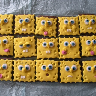 Spongebop Squarepants Cookies - Obrázkek zdarma pro 208x208