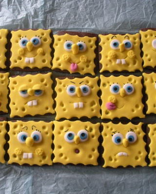 Spongebop Squarepants Cookies - Obrázkek zdarma pro 320x480