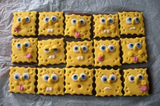 Spongebop Squarepants Cookies - Obrázkek zdarma pro Nokia Asha 200