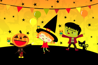 Halloween Trick or treating Party - Obrázkek zdarma pro Widescreen Desktop PC 1920x1080 Full HD