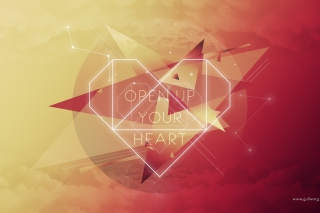 Open Up Your Heart Background for Android, iPhone and iPad