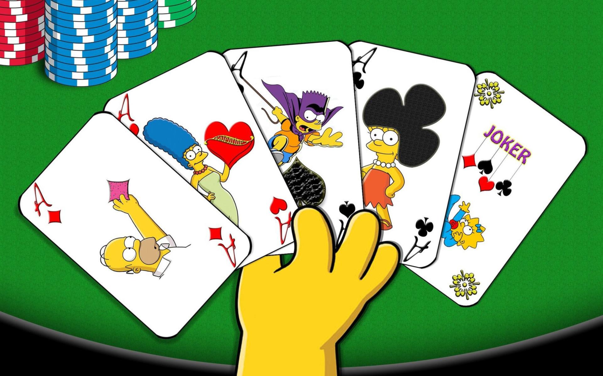 Simpsons poker