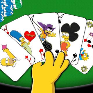 Simpsons Cards - Obrázkek zdarma pro 320x320