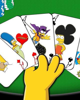 Simpsons Cards - Obrázkek zdarma pro 128x160