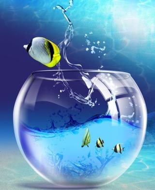 Yellow Fish - Obrázkek zdarma pro Nokia C2-00
