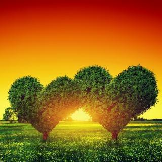 Heart Green Tree - Obrázkek zdarma pro iPad mini 2