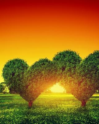 Heart Green Tree - Obrázkek zdarma pro Nokia X3