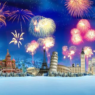 World Fireworks - Obrázkek zdarma pro 128x128