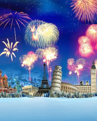 World Fireworks - Obrázkek zdarma pro Nokia Asha 300