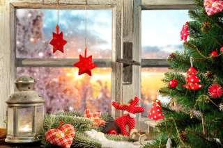 Christmas Window Home Decor - Obrázkek zdarma pro Widescreen Desktop PC 1920x1080 Full HD