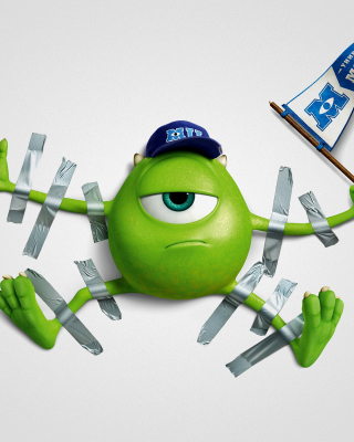 Monsters University, Mike Wazowski, Green Monster - Fondos de pantalla gratis para Nokia C2-02