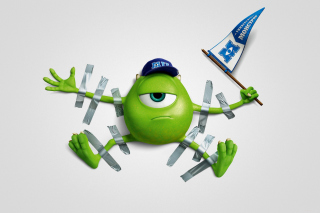 Monsters University, Mike Wazowski, Green Monster - Fondos de pantalla gratis para Motorola RAZR XT910