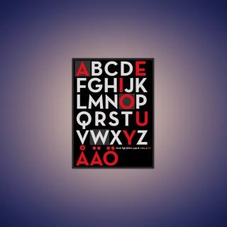 Alphabet - Obrázkek zdarma pro 320x320
