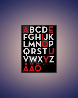 Alphabet - Obrázkek zdarma pro Nokia 206 Asha