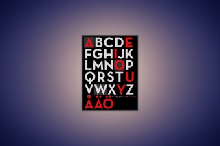 Alphabet - Obrázkek zdarma pro Nokia Asha 200