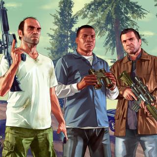 Grand Theft Auto V Gangsters - Obrázkek zdarma pro 128x128