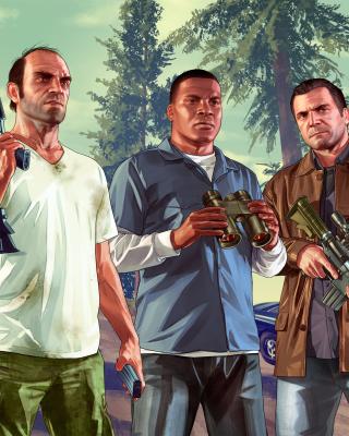 Grand Theft Auto V Gangsters - Obrázkek zdarma pro Nokia X2-02