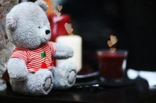 Lovely Grey Teddy Bear - Fondos de pantalla gratis para Samsung S5367 Galaxy Y TV