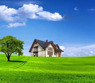 Stone house in village - Obrázkek zdarma pro 2048x2048