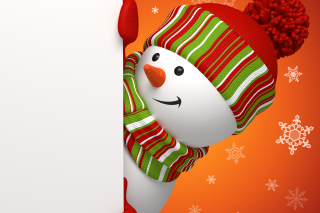 Snowman Waiting For New Year - Obrázkek zdarma pro Sony Xperia Tablet Z