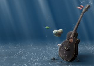 Free Underwater Guitar Picture for Android, iPhone and iPad