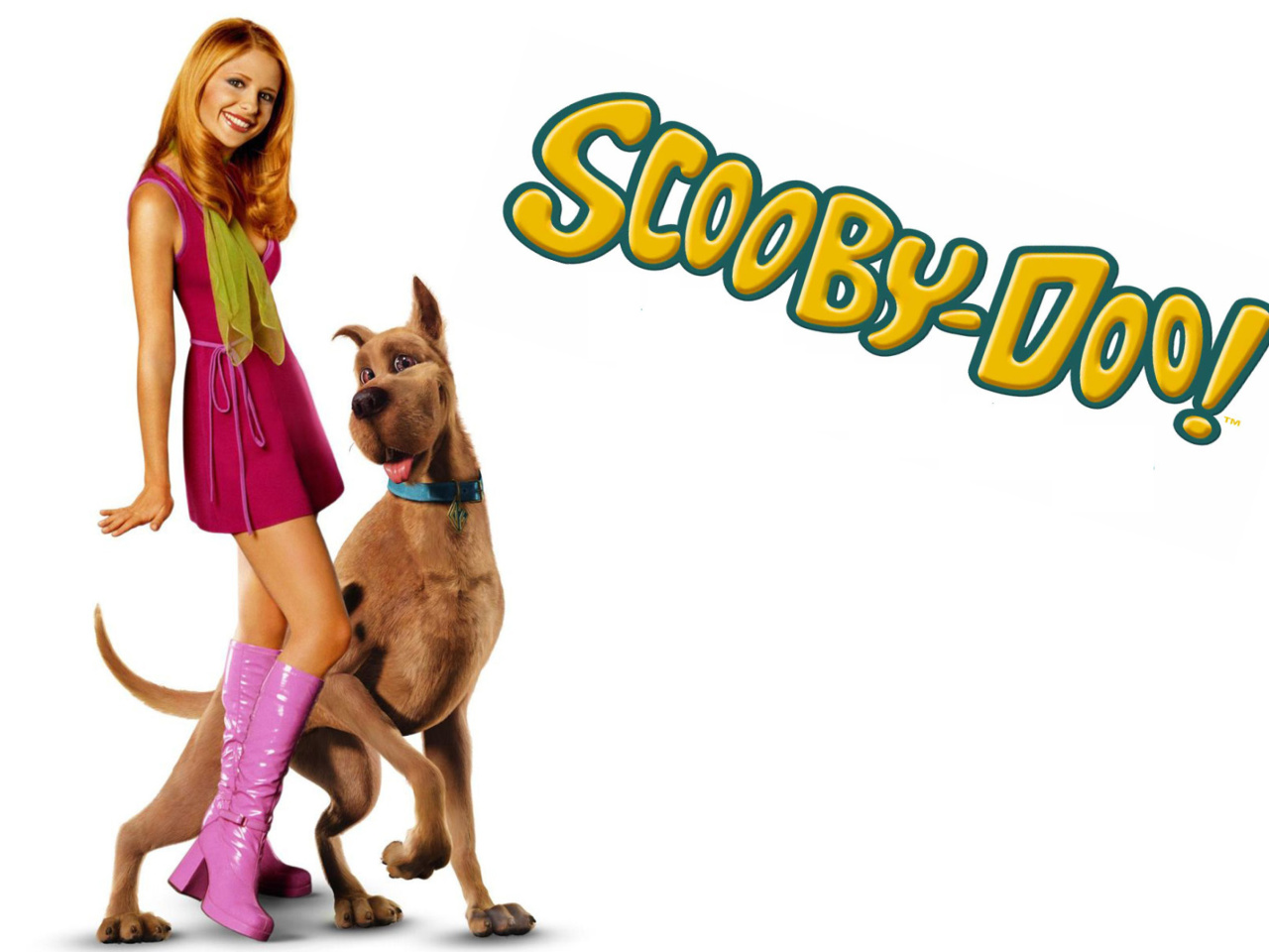 Screenshot №1 pro téma Sarah Michelle Gellar with Dog 1280x960