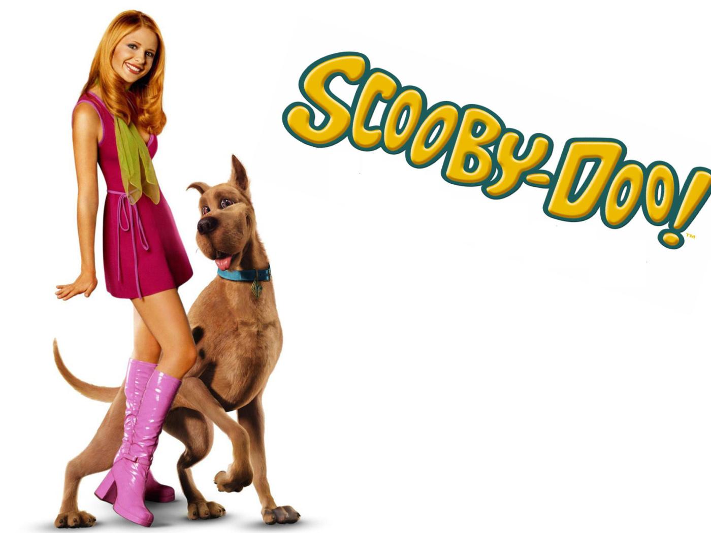 Screenshot №1 pro téma Sarah Michelle Gellar with Dog 1400x1050