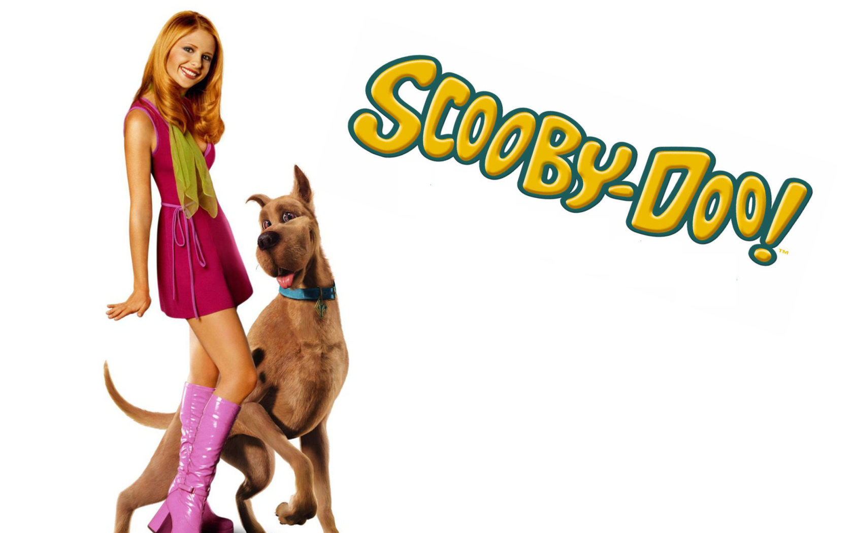 Screenshot №1 pro téma Sarah Michelle Gellar with Dog 1680x1050