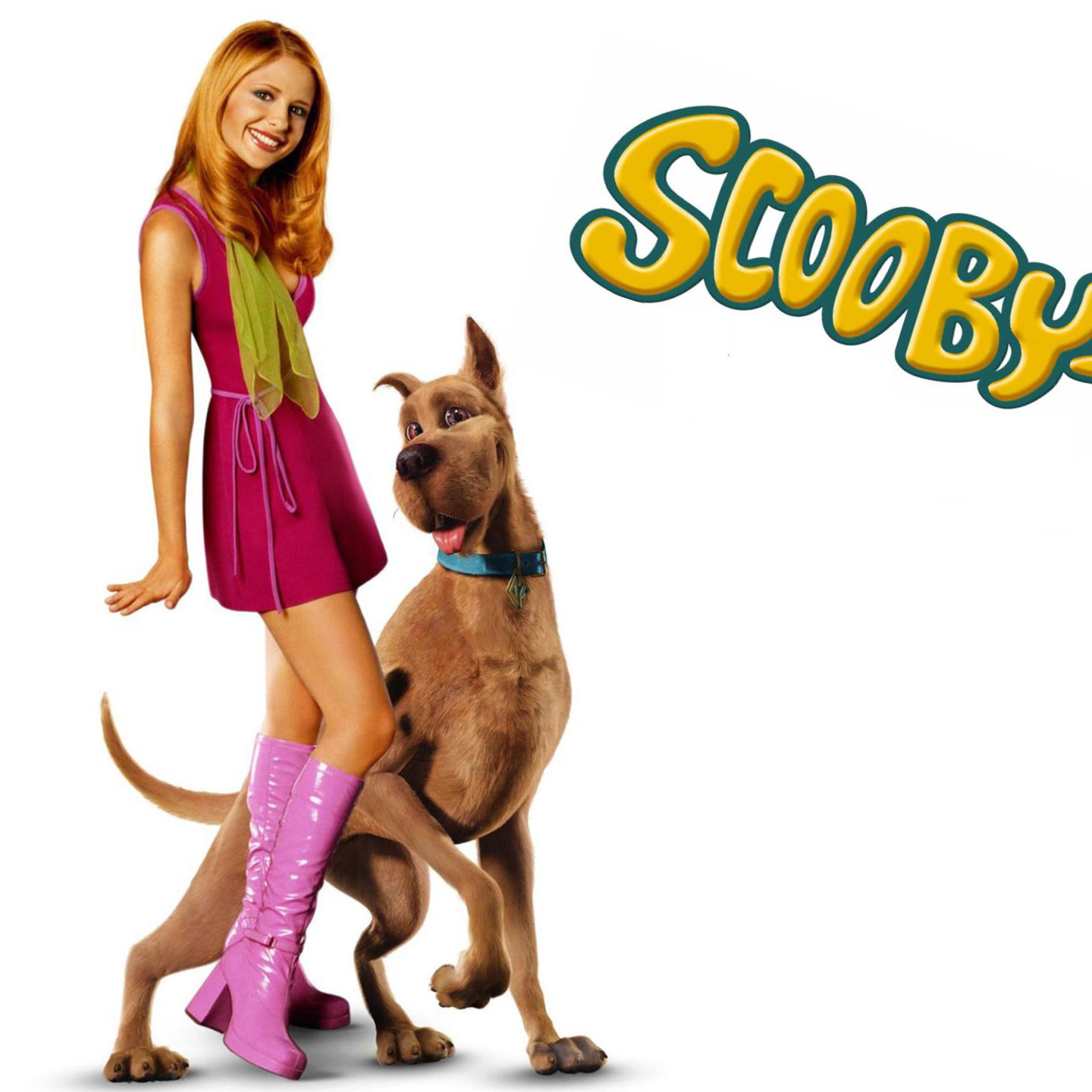 Screenshot №1 pro téma Sarah Michelle Gellar with Dog 2048x2048