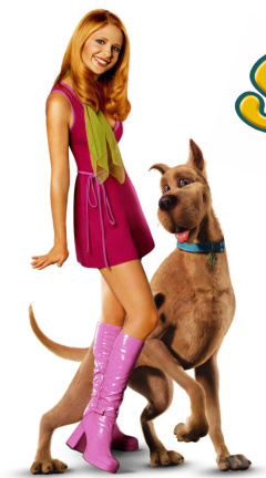 Screenshot №1 pro téma Sarah Michelle Gellar with Dog 240x432