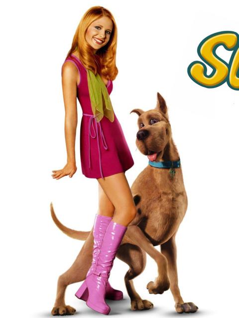 Screenshot №1 pro téma Sarah Michelle Gellar with Dog 480x640