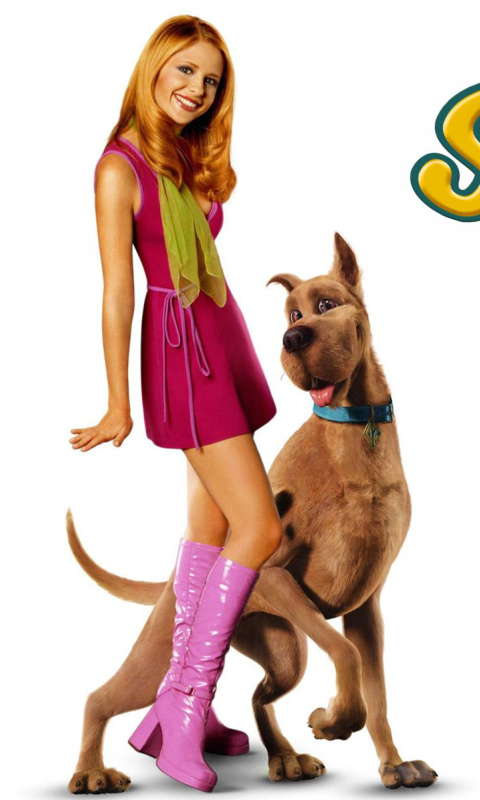 Screenshot №1 pro téma Sarah Michelle Gellar with Dog 480x800